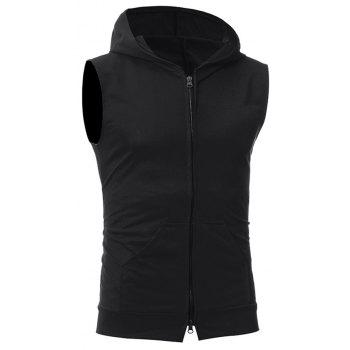 Men's Fashion Simple Sports Vest - BLACK XL