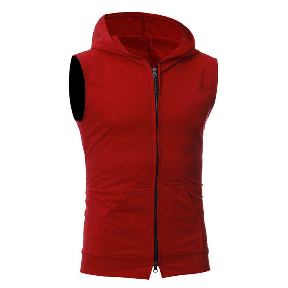 Men's Fashion Simple Sports Vest - RED M