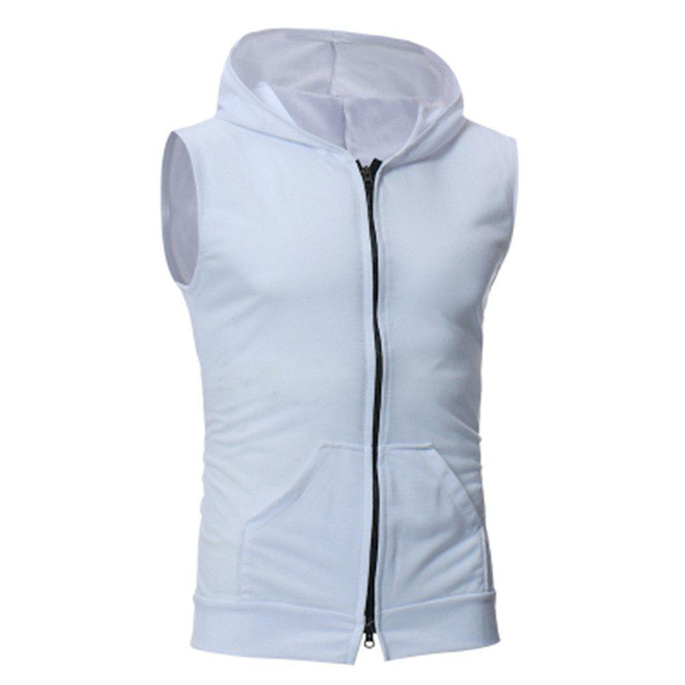 Men's Fashion Simple Sports Vest - WHITE XL