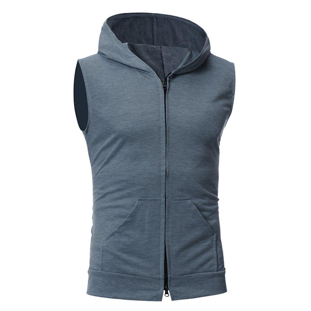 Men's Fashion Simple Sports Vest - DARK GRAY M