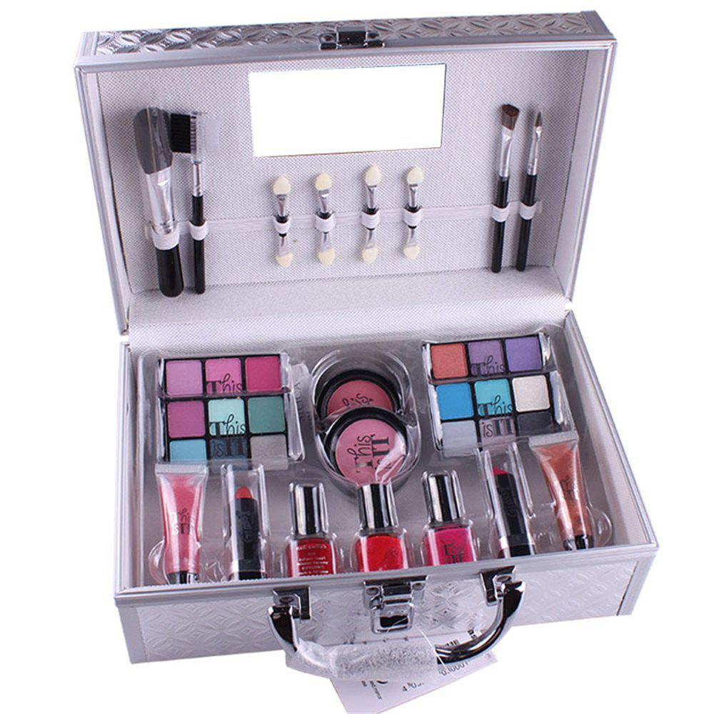 MISS ROSE Eyeshadow Blush Makeup Box 1set - SILVER