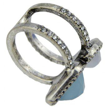 Silver Color Geometric Circle Ring - SILVER ONE-SIZE