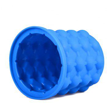 New Ice Cube Maker Silicone Bucket Kitchen Tools Cubes Machine Refillable - BLUE