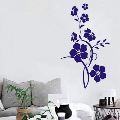 Fleur Wall Sticker Arbre Art Decal Mural pour Salon Chambre Décor À La Maison - Iris Pourpre