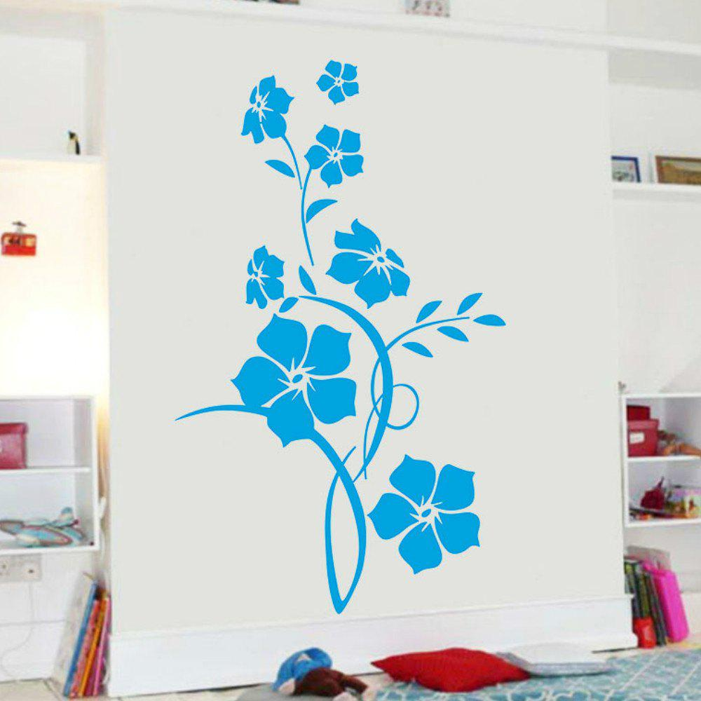 Flower Wall Sticker Tree Art Decal Mural for Living Room Bedroom Home Decor modern minimalist 3d stereoscopic abstract art space murals wallpaper home decor wall painting living room door sticker mural 3d