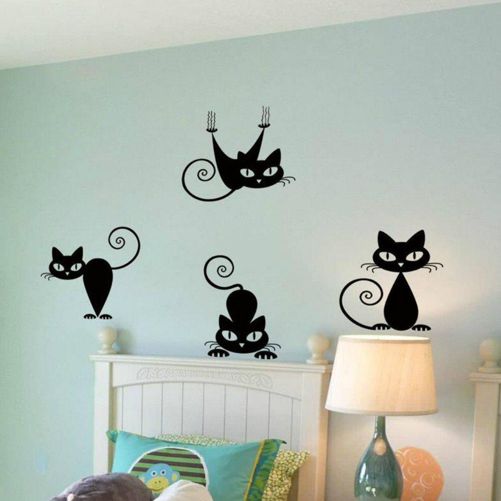 Cute Funny Cute Cat Wall Decal Sticker одеяла dream time одеяло легкое 140 105 см