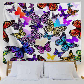 Color Butterfly 3D Printing Home Wall Hanging Tapestry for Decoration - multicolor A W153CMXL102CM
