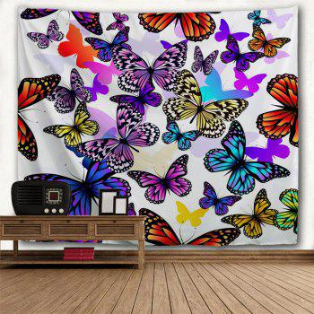 Color Butterfly 3D Printing Home Wall Hanging Tapestry for Decoration - multicolor A W153CMXL130CM