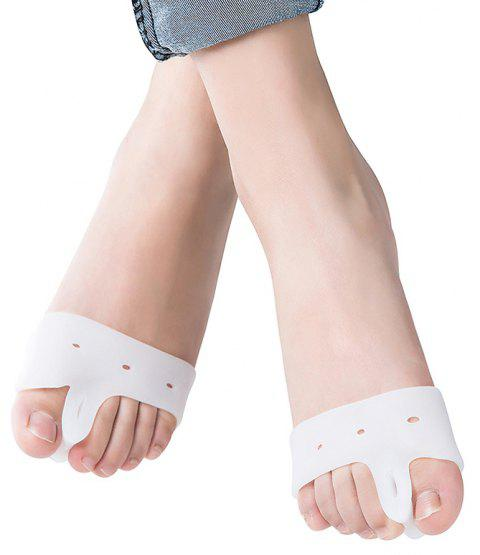 Silicone Forefoot Pads Hallux Valgus Orthopedic Toe Separator Insole 2PCS - WHITE