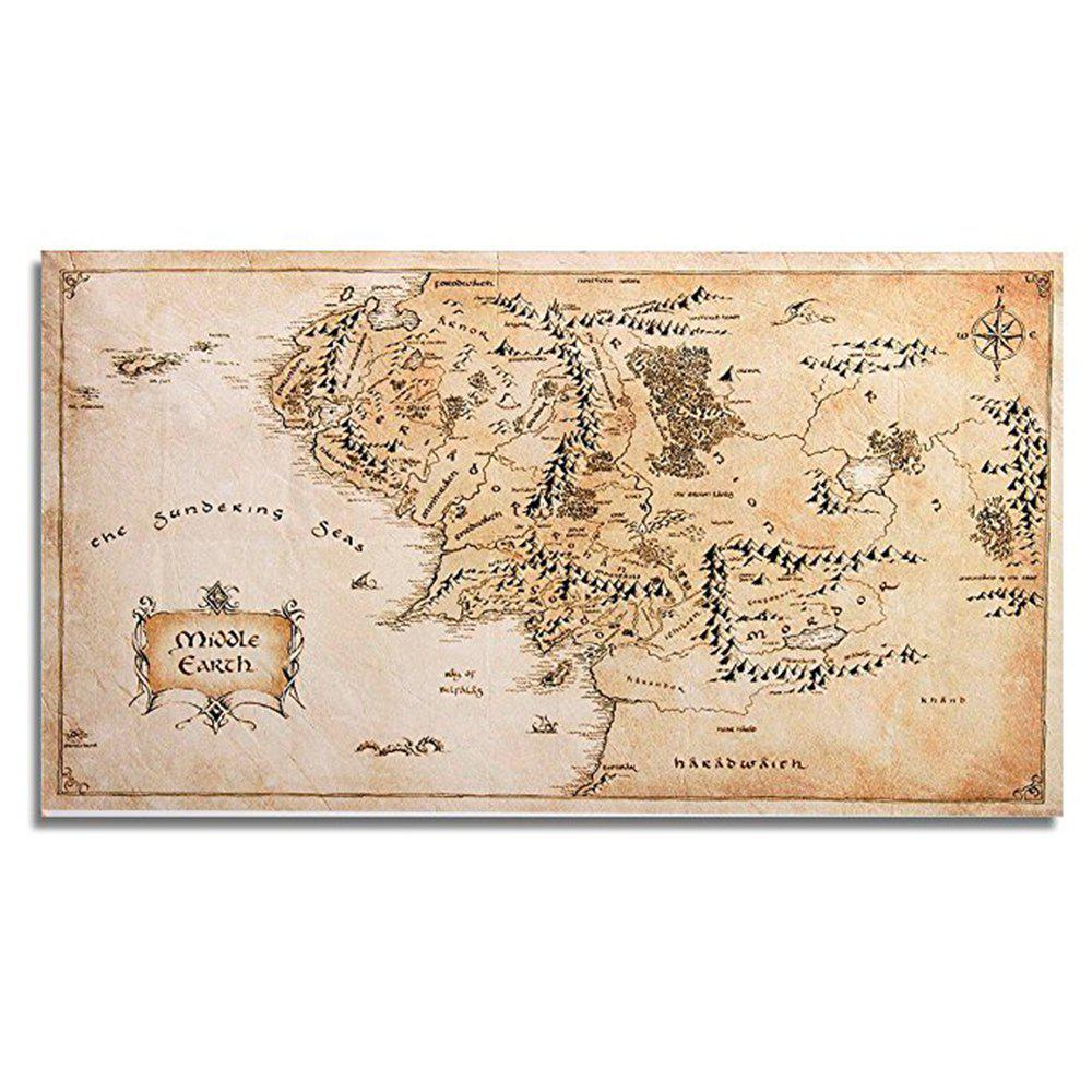 2018 silk fabric home decor middle earth world map wall sticker silk fabric home decor middle earth world map wall sticker camel brown gumiabroncs Choice Image