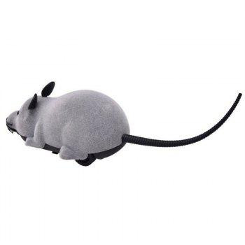 Patgoal RC Funny Wireless Electronic Remote Control Mouse Rat  Toy for Pets - GRAY