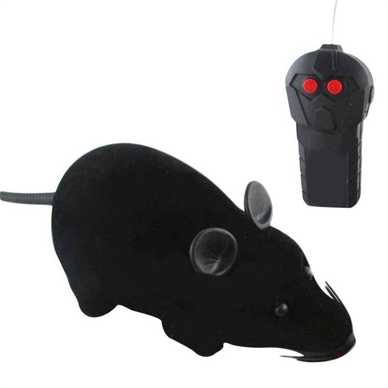 Patgoal RC Funny Wireless Electronic Remote Control Mouse Rat  Toy for Pets - BLACK