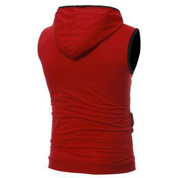 Men's Casual Three-Dimensional Pocket Fashion Vest - RED M