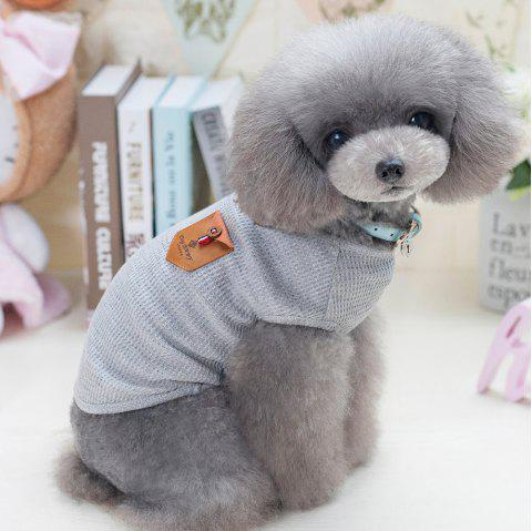 Lovoyager VB1801 Hot Selling Cotton Pet Summer Dog Clothes for Small Dogs - LIGHT GRAY S