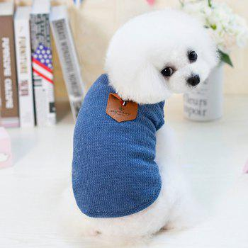 Lovoyager VB1801 Hot Selling Cotton Pet Summer Dog Clothes for Small Dogs - BLUE L
