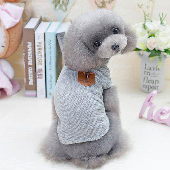 Lovoyager VB1801 Hot Selling Cotton Pet Summer Dog Clothes for Small Dogs - LIGHT GRAY M