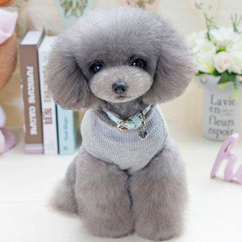 Lovoyager VB1801 Hot Selling Cotton Pet Summer Dog Clothes for Small Dogs - LIGHT GRAY L