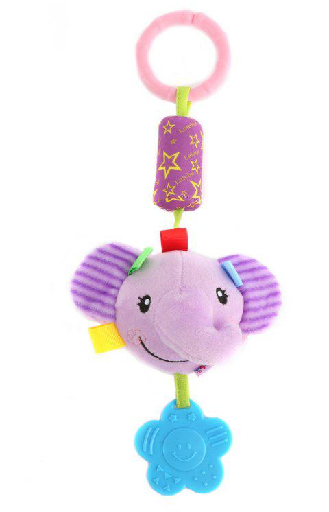 Newborn Baby Bed Bells Plush  Lovely Cartoon Design Rattles  Teether for Baby - MAUVE