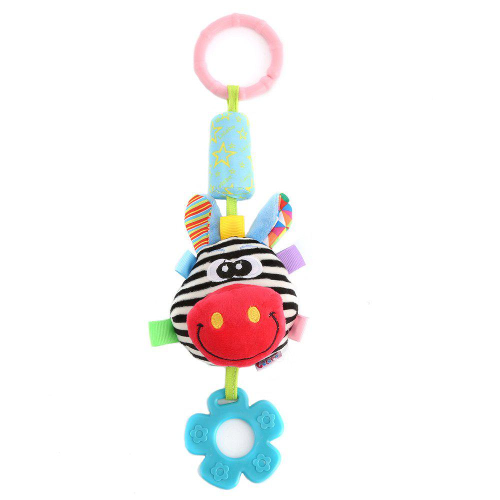 Newborn Baby Bed Bells Plush Lovely Cartoon Design Rattles Teether for Baby