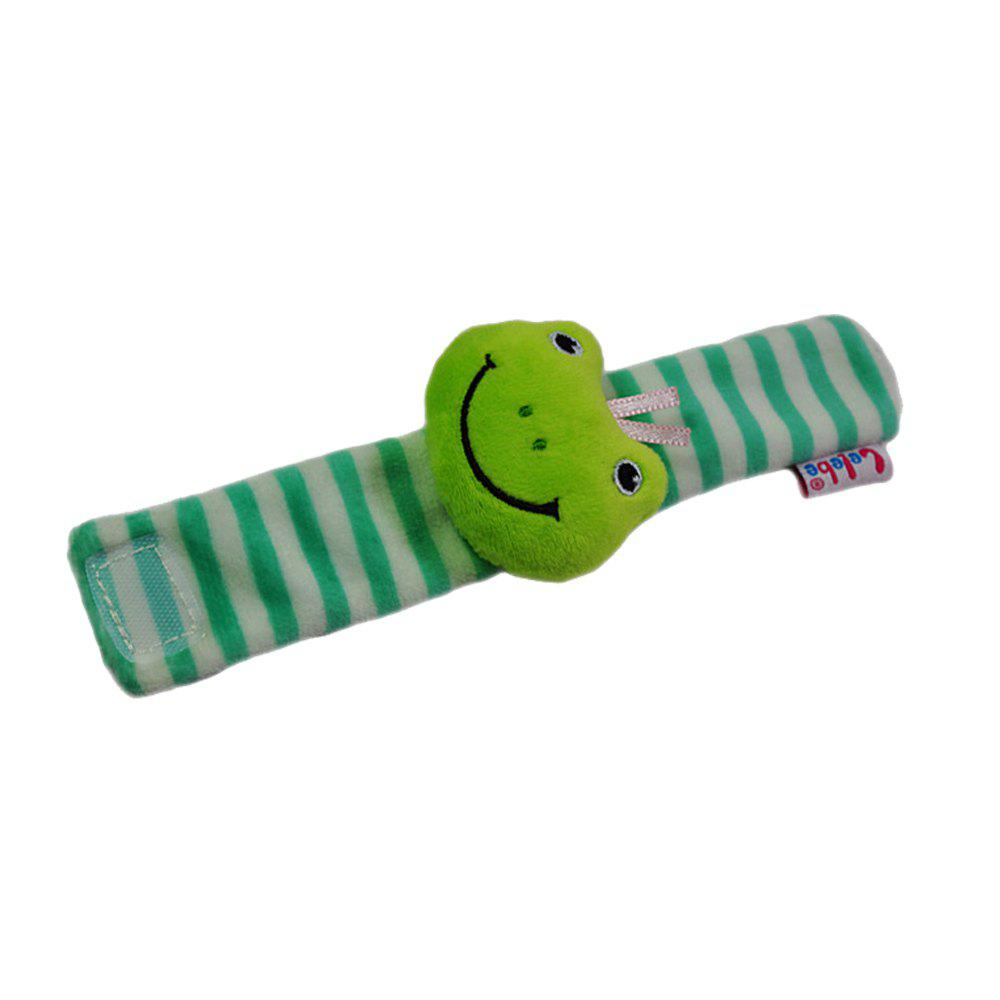 Baby Wrist Strap Cartoon Animal Newborn Baby Calming Toy - FROG GREEN