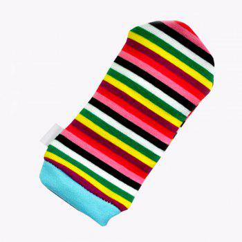 Creative Lovely Animal Pattern Striped Sock Design Rattles and Teether - GOLDEN BROWN
