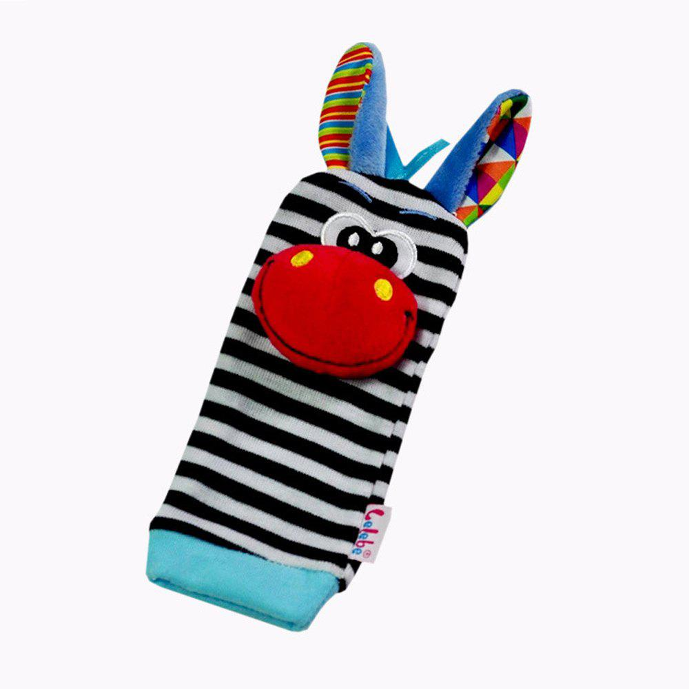 Creative Lovely Animal Pattern Striped Sock Design Rattles and Teether - RED