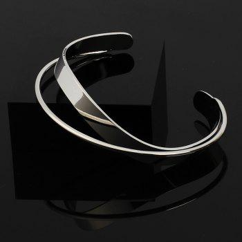 Brass Geometric Variation Irregular Female Bracelet - SILVER 1PC
