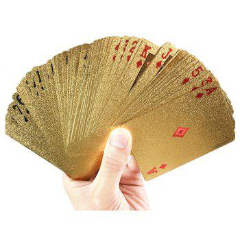 Creative Waterproof Foil Coin with High Quality Poker - GOLD TYPEB