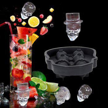 3D Silicone Ice Cube Mold Tray Maker for Home - BLACK