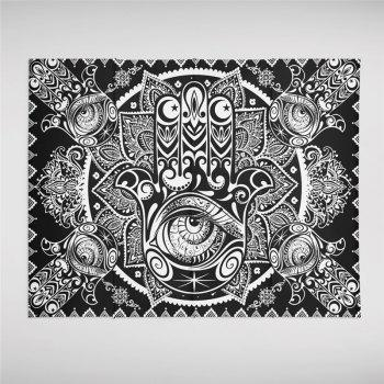 Hot Selling Foreign Region Bohemia Mystical Totem Series Tapestry GT-ZR-06 - BLACK SIZE S