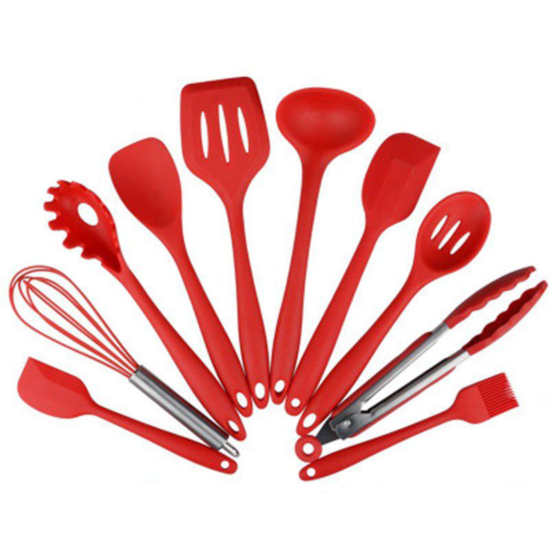 10 Pieces Silicone Kitchen Heat Resistant Cooking Utensil Set 5pcs heat resistant silicone kitchen cooking utensils set