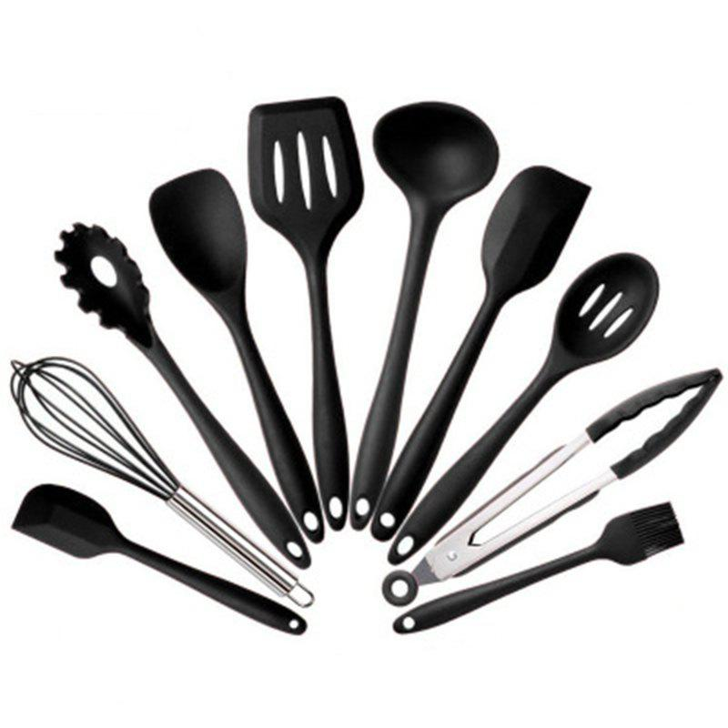 10 Pieces Silicone Kitchen Heat Resistant Cooking Utensil Set