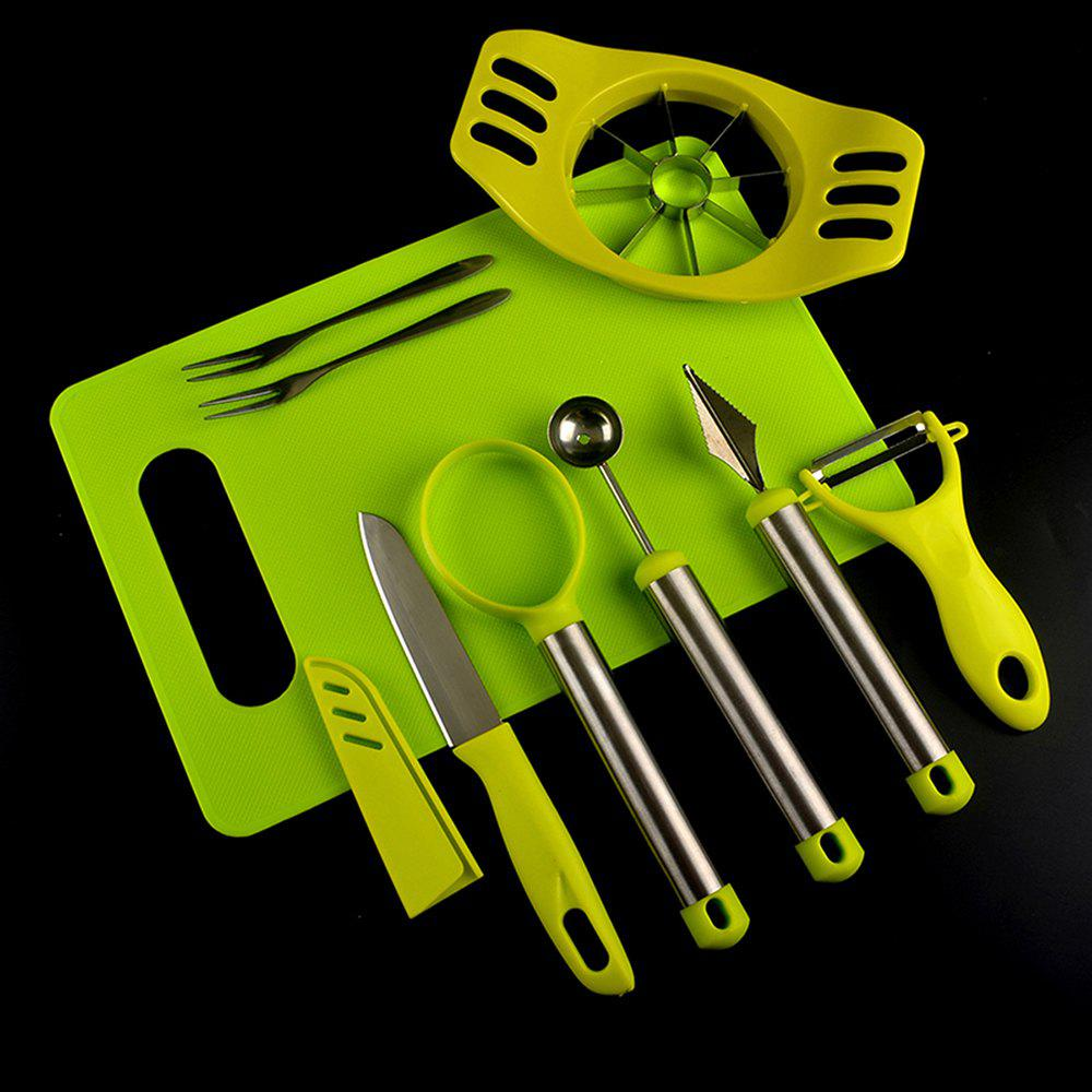 Home Kitchen Tools Fruit Knife Cutter Watermelon Digging Ball Spoon Set bst 113 professional electrical tools set wire cutter pliers digital multimeter screwdriver soldering wick iron stand knife