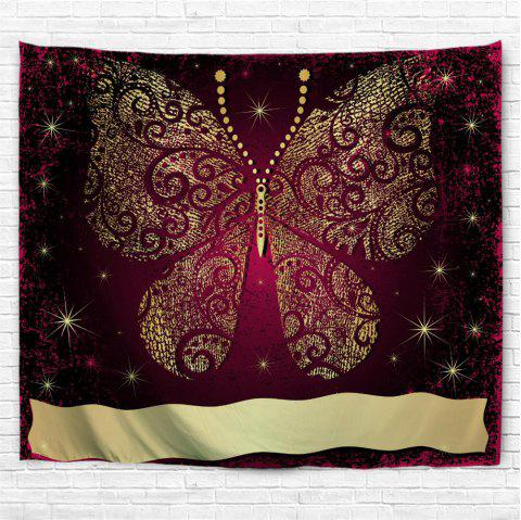 Elegant Gold Butterfly 3D Printing Home Wall Hanging Tapestry for Decoration - multicolor A W153CMXL102CM
