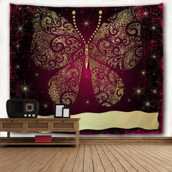 Elegant Gold Butterfly 3D Printing Home Wall Hanging Tapestry for Decoration - multicolor A W229CMXL153CM