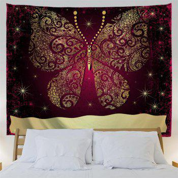 Elegant Gold Butterfly 3D Printing Home Wall Hanging Tapestry for Decoration - multicolor A W200CMXL180CM