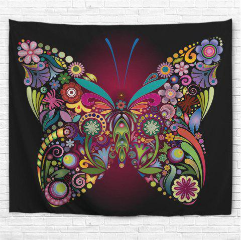 Colorful Butterfly 3D Printing Home Wall Hanging Tapestry for Decoration - multicolor A W153CMXL102CM