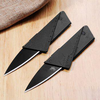 Folding Credit Card Knife Multifunctional Tool - BLACK