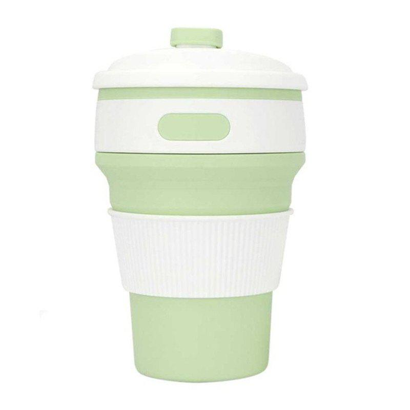 350ML Creative Multifunctional Silicone Portable Folding Cup - LIGHT JADE