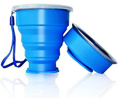 Collapsible Travel Mug Silicone Unique Camping Gear Supplies Accessor - BLUE