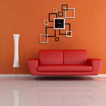 Modern Design 3D DIY Mirror Wall Clock Parlor Background Sticker Home Decor - multicolor