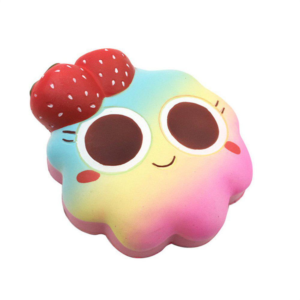 Slow Rebound Toy for Big Strawberry Bread - multicolor