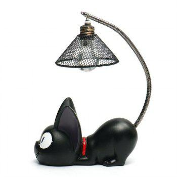 Mini Cute Black Cat Night Light Table Lamp Home - multicolor A