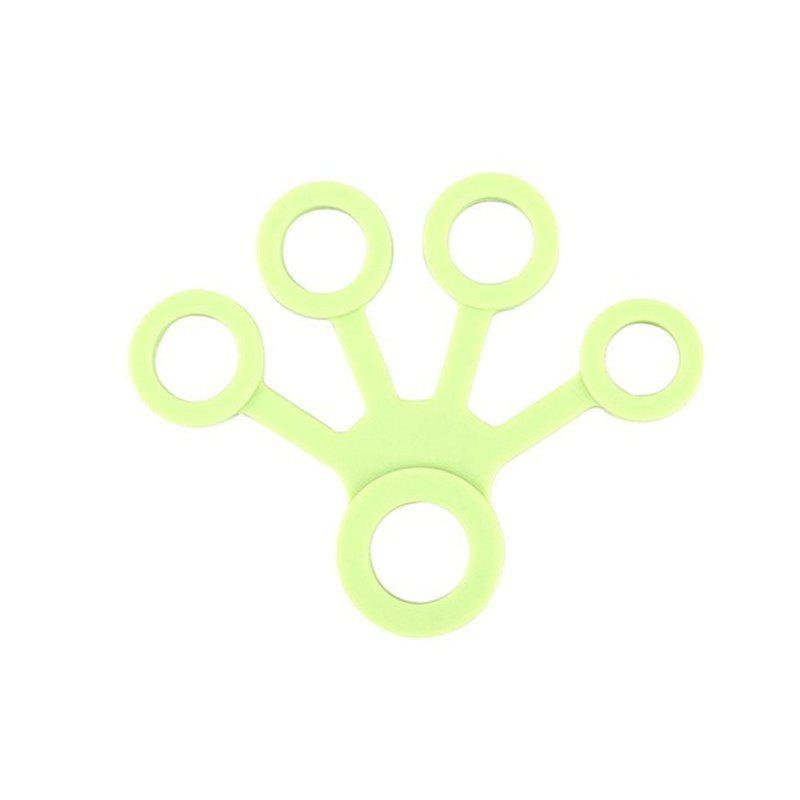 Hand Exerciser Finger Stretcher Grip Strength Tranier Resistance Band Gift - TEA GREEN