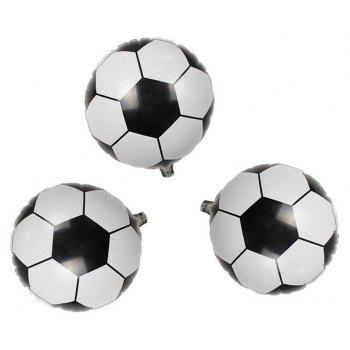 10PCS Aluminum Foil Soccer Balloons for Birthday Party  Decorations - multicolor A