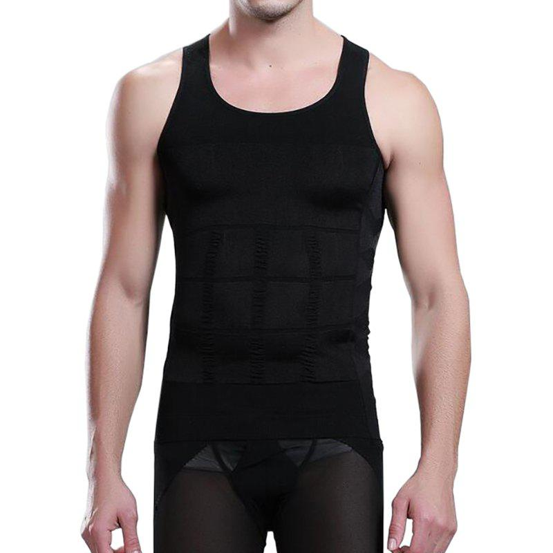 Men's Body Shaper Slimming Shirt Tummy Waist Vest 4 electrode tens acupuncture electric therapy massageador machine pulse body slimming sculptor massager apparatus body care