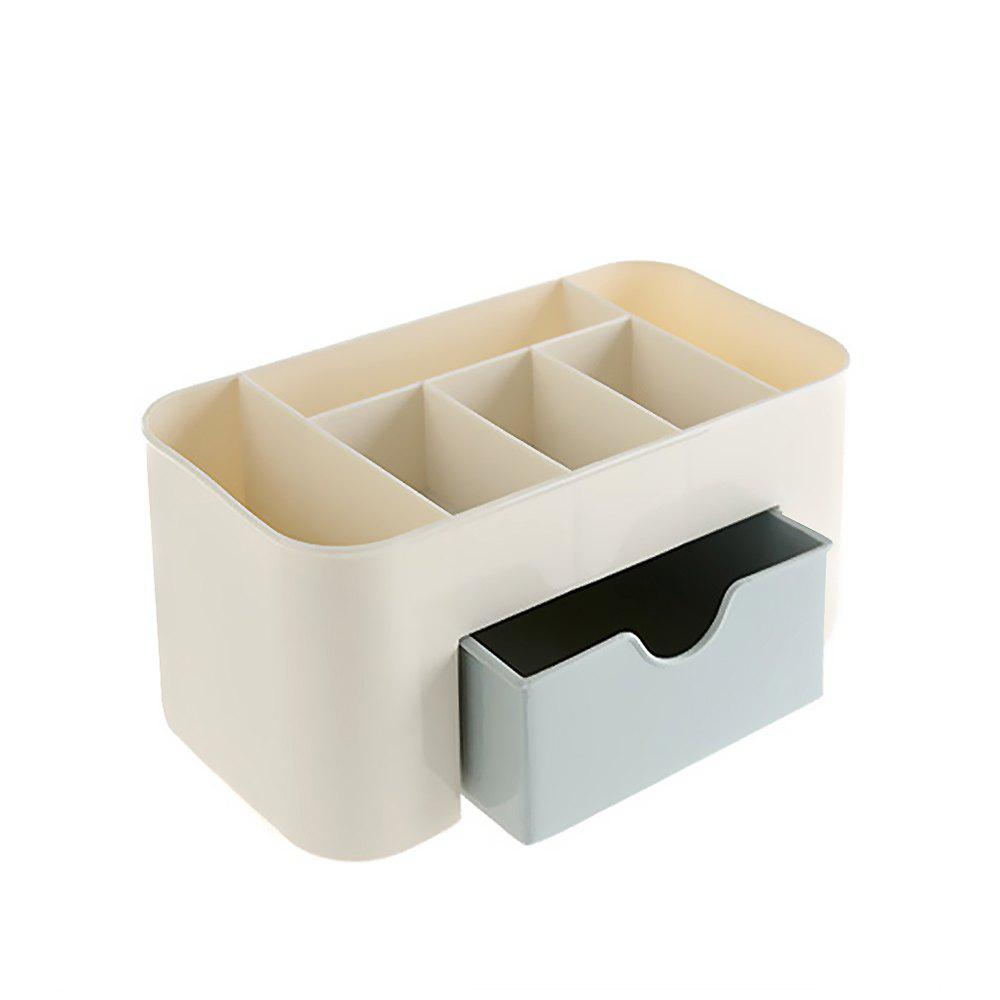 Plastic Desktop Cosmetic Home Multi-purpose Jewelry Storage Box 1pcs free shipping wooden tool box desk storage drawer debris cosmetic storage box bin jewelry case office creative gift home