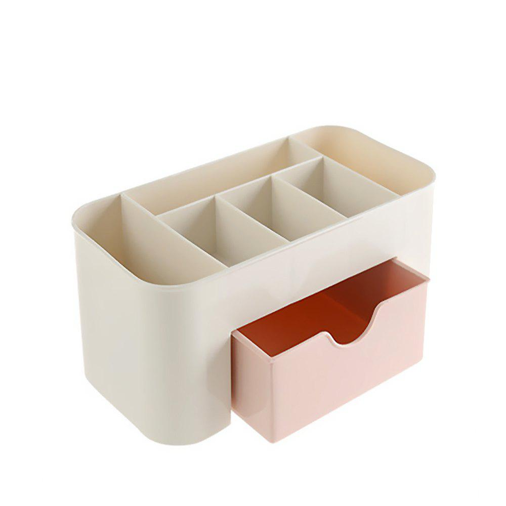 Plastic Desktop Cosmetic Home Multi-purpose Jewelry Storage Box 1pcs fashion women travel kit jewelry organizer makeup cosmetic bag