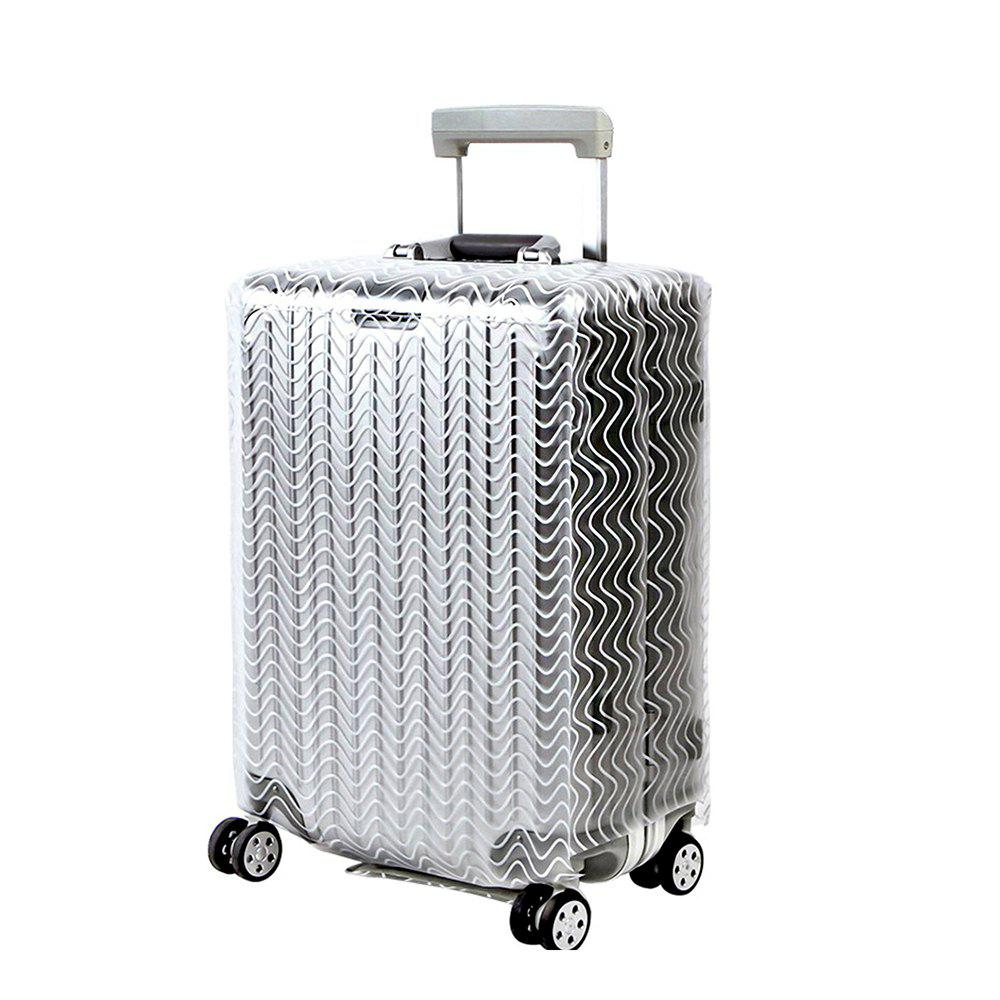 Trolley Case Protective Cover Dust Cover 1pcs - TRANSPARENT SIZE S