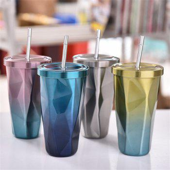 Double Stainless Steel Irregular Straw Cup 1pcs - PINK CUPCAKE